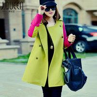 2014 new Autumn and winter women's wool coat medium-long woolen outerwear Y2P4