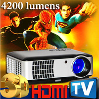 4200 lumens LED-059  Digital Full HD LED Cinema Projector/Proyector TV,Support Android Smartphone Mobile High-Definition Link