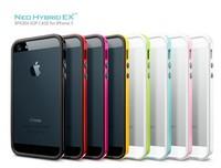 20pcs/lot Wholesale SGP Case For iPhone 5 5S Cover Spigen Hybrid Bumblebee slim PC + Silicone case 11 color free shipping