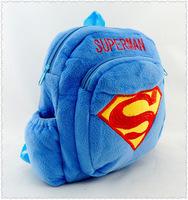 2014 New primary school students school bag backpack children Superman Super-man Bag kids of plush backpack boy girl cartoon Bag