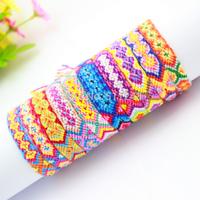 Rainbow Chunky Rope Braided Friendship Bracelet Handmade 10pcs/lot