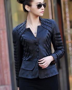 Мода Большой размер 4XL кожаная куртка женское пальто верхняя одежда новый 2014 осень ...