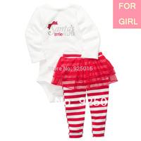 New 2014 Original Carter's Baby Girl 2-pcs Santa Tutu Bodysuit&Pant Suit Infant Gift Clothing Set NB-24M, In Store, YW