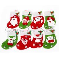 Snowflake Design Christmas Prop Chrismas Stocking Gift Present
