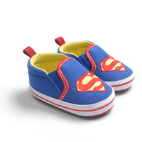 Baby Shoes Superman Supergirl Batman Slip-on Sneakers Toddlers Soft Sole First Walkers Boys Girls Footwear Drop Free Shipping