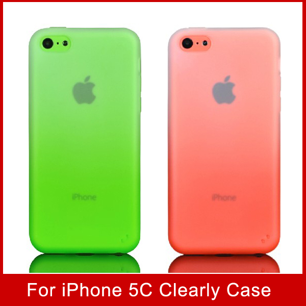 For Apple iPhone 5C Silicon Case Clearly Candy Color for iPhone 5C Creative Transperant Shell for Cellphone(China (Mainland))