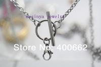 20pcs 18 ''  Stainless steel 0.8 wire 3mm width new style toggle chain for floating charms glass locket keepsake,no locket