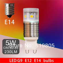 LED G9 E12 E14 LED bulb lamps light 5W 230LM 2835 0.5W/SMD 11SMD CRI80 110V 220V 240V Cool white Warm white Free shipping(China (Mainland))