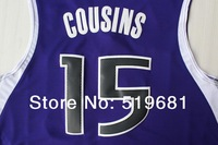 Free Shipping,2014 New men brand Kings #15 Cousins Rev 30 Basketball jersey,Embroidery logos,Size S--2XL,Drop shipping