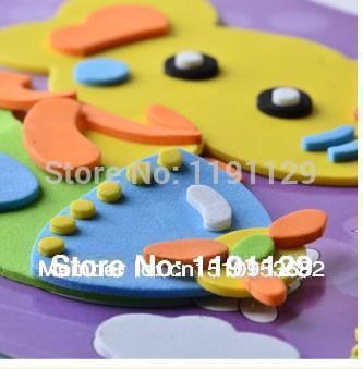 puzzle 3d disegno adesivi grandi dimensioni eva adesivi fai da te colorato carta da disegno per i bambini che imparano e giocattoli educativi