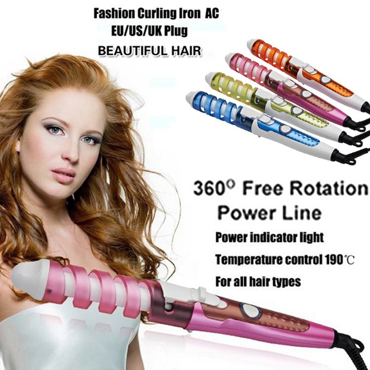New Arrival Hot Tools Curling Iron Hair Wand Electric Ceramic Glaze Coating 39S Fast Heating Provide 4 Color EU/US/UK/AU Plug(China (Mainland))