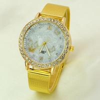 New Fashion Watch Dress Watches Steel Band Luxury Design Analog Display Quartz Gold Women Casual Watch