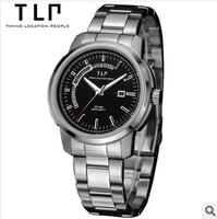 TLP brand, multi-function, double show, racer men watches,Waterproof stainless steel quartz watch,watches men luxury brand