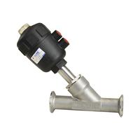 KLJZF Series Multi Medium 2 Way Pneumatic Stainless Angle Seat Valve,Tri-clamp Connection Type Angle seat valve