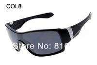 8pcs brand new hot Cheap unisex sunglasses fashion designer off shoot Cycling eyewear Sports sun glasses shield 8cols