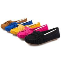 New Women Retro Tassel Bow Peas Shoes Single Shoes Work Shoes Casual Walking Shoes Wholesale 1Pair