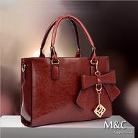 2014 Women Handbag Genuine Leather Korean Version Tide Female Bag Europe Retro Bag Ladies Bags Shoulder Bag Bow Women Handbag
