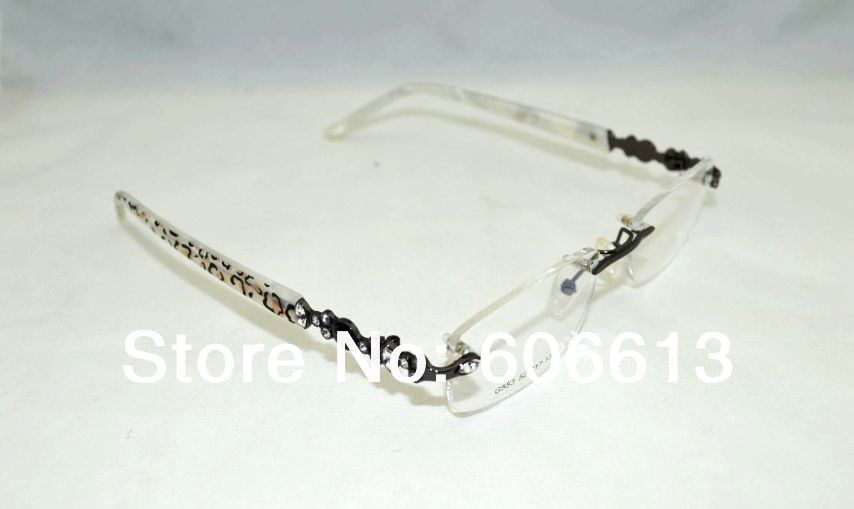 Rimless Glasses With Rhinestones : Fashion Women Rhinestone Optical Rimless Glasses Frame ...
