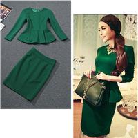 2 piece set women conjunto cropped e saia  skirt top elegent fashion business suits formal woman suits work office spring R101
