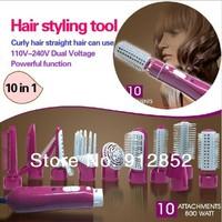 hair styling brush comb 10in1 rotating brush hair combo hair styler air brush freeshipping