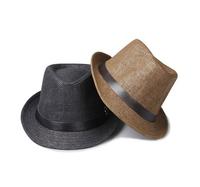 1pcs Spring And Summer Jazz Hat Unisex Casual Trendy Beach Sun Hat Belt Straw Cap Optional Multi-Color QJ05