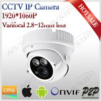 Outdoor Varifocal camera with 2.8-12mm lens cmos dome indoor/outdoor waterproof 2mp 1080p zoom ip cam