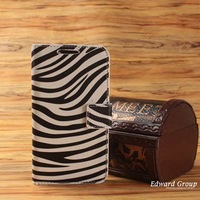 With Free Screen Protector PU leather Wallet Flip case for Samsung Galaxy S3 i9300  zebra Flag pattern PU003