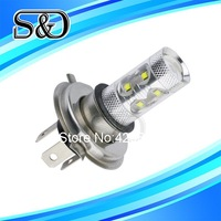 S&D Brand H4 60W Cree LED White cars Fog Head lights Bulb auto Lamp Vehicles Signal Tail parking car light source free shipping