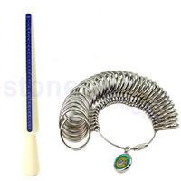 D19Standard Jewelry Tool Size Finger Ring Metal Sizer Measure Gauge Tool Set New