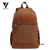 Guaranteed 100% Cotton Canvas Rucksack Schoolbag for Teenagers Fashion Mochila Large Capacity Men's Backpack 14.1'' Laptop Bags