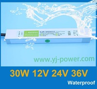 led waterproof driver 12v 30w,ROHS,CE,IP67,Fedex/DHL free shipping,10pcs/lot