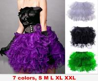sexy tutu skirts women ruffles corset skirt pink blue green purple black white for U pick new free shipping