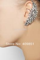 Blogger Gold Multi Spike Crystal Gem Stone Flower Ear Cuff Earring Punk Goth Fashion Wholesale Free Shipping Blogger Style