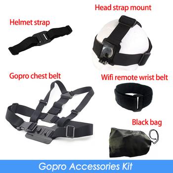 Gopro Accessories Chest Belt + WiFi Remote Wrist Belt + Head Strap Mount + Helmet ...