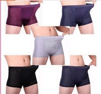 4pcs/lot  Breath Men's Boxer 2014 New Sexy Bamboo Fibre Underwear Elastic Breathable Male Boxers Plus Size Boxers RU899