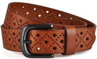 First Layer  Leather Men Vintage  hollow out  Belt Fashion Buckles Men Jeans Strap Cinto Man Belt Gifts New 2014 M120 cinturon