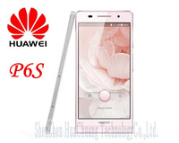 Newest Original Huawei Ascend P6S Upgraded P6 Quad Core 1.5Ghz 1280*720 IPS 2GB+16GB Dual SIM Card Dual Camera 3G Mobile Phone