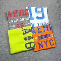 2014 Free Shipping famous brand 'AEROPOSTALE' 100% cotton  O-Neck Vintage Short Sleeve  t-shirt, Plus Size XXL