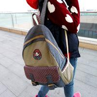 New 2014 Female Korean Canvas Shoulder Bag Backpack Schoolbag Tide Sweet Lady  1B009