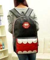 Free Shipping Women PU Leather Schoolbag Shoulder Bag Korean Fashion Travel Backpack 1B016