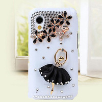 Free Shipping Ballet Girls Phone Case For Samsung GT - S5830 Phone shell S5830i bumpers diamonds