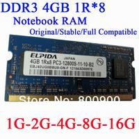 ELPIDA SO-DIMM DDR3 laptop Mini Computer Memory Module notebook RAM 1GB 2GB 4G 8G 16G 10600 12800 1600 High Frequency PC3-12800S