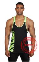 New Fitness sports 100% cotton fashion Fitness training vest male bodybuilding deepened word vest men sports Vests M-XL