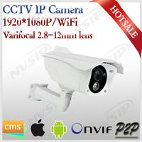 Wireless ip camera onvif varifocal lens 2.8-12mm 1080p cctv Security camera bracket