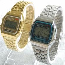 Fashion watches men LED Digital watch Samurai watch gold silver,men full steel watch,Casual Men Wristwatches relogio masculino(China (Mainland))