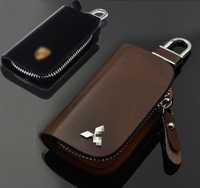 Genuine leather car key bag key cover for MITSUBISHI pagerlo lancer outlander ASX evo