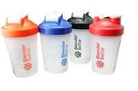 Colored Blender Bottle Mini protein Shaker Mixing bottle with Wire whisk 400ML free shipping