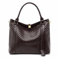 7 Colors New 2014 Fashion Genuine Leather Bag Cowhide Women's Tassel Bag Shoulder Bag Vintage Handbag B1366