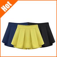 New 2014 Summer Fashion Pure Color Women's Elastic Shorts European Style Shorts Women