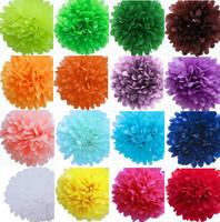 "Medium 10"" inch 25cm  Tissue Paper Pom-poms Flower Ball Hanging pom poms Party Decor"